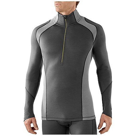 Free Shipping. Smartwool Men's Lightweight Zip T DECENT FEATURES of the Smartwool Men's Lightweight Zip T Form Fit Jersey and Rib knit, UPF 35 14in. (35.5cm) center front zipper with semi-locking logo slider and chin guard Sculpted side panel eliminates side seam for reduced chafing and body enhancing fit Contoured sleeve cuff and drop tail bottom hem for increased coverage Contrast color stitching on interior flatlock seams The SPECS Garment Weight: 8.9 oz / 255 g Fabric Weight: 195gm/m2 / 5.7oz/yd2 100% Merino Wool - $94.95