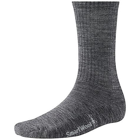 Smartwool Men's Heathered Rib Sock FEATURES of the Smartwool Men's Heathered Rib Sock 61% Merino Wool, 37% Nylon, 2% Elastane Made in USA - $18.95