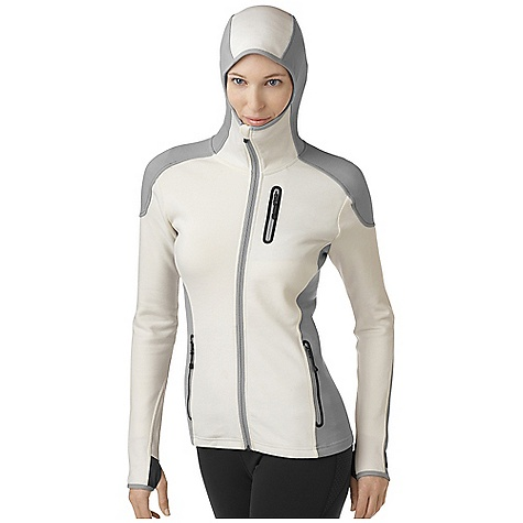 On Sale. Free Shipping. Smartwool Women's TML Mid Full Zip Hoody DECENT FEATURES of the Smartwool Women's TML Mid Full Zip Hoody Semi-Form Fit HyFi Double Jersey knit Center front zipper with semi-locking logo slider, full draft flap and chin guard Secure zip chest pocket and hand pockets with Durawelt finish Articulated hood with clean finish binding Articulated elbows with engineered thumbholes and clean finish binding at sleeve opening Heat transfer logo at left sleeve cuff The SPECS Garment Weight: 19.58 oz / 555 g Fabric Weight: 10.9 oz/yd2 / 370 gm/m2 Fabric: Shell: 64% Merino Wool, 36% Nylon Pocket Bag: 100% Polyester - $122.99