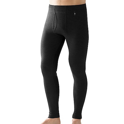 On Sale. Free Shipping. Smartwool Men's Midweight Bottom DECENT FEATURES of the Smartwool Men's Midweight Bottom Form Fit - Natural Rise Interlock knit; UPF 50+ Covered elastic waistband and traditional fly design Flatlock seam construction eliminates chafing Heat transfer logo at left hip Size M/Inseam: 29in. (74cm) The SPECS Knit in China of 100% Merino Wool - $47.99