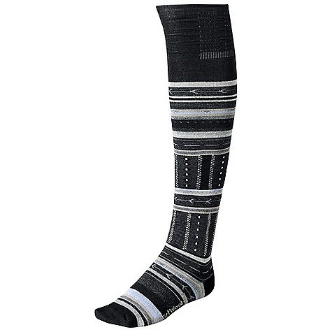 On Sale. Smartwool Women's Gleaming Seeding DECENT FEATURES of the Smartwool Women's Gleaming Seeding Supportive Arch Brace The SPECS Fabric: 63% Merino Wool, 35% Nylon, 2% Elastane Height: Knee High Cushioning: Non Cushion - $14.99