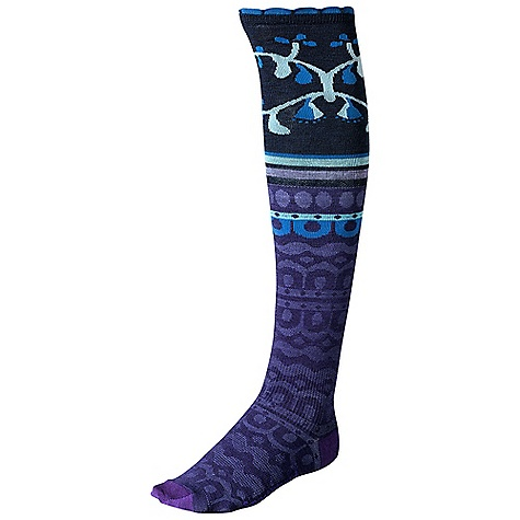 On Sale. Smartwool Women's Ornamental Melange DECENT FEATURES of the Smartwool Women's Ornamental Melange WOW Technology SmartWool Fit System with arch and ankle support Strategic mesh zones for maximum ventilation The SPECS Fabric: 58% Merino Wool, 40% Nylon, 2% Elastane Height: Knee High Cushioning: Non Cushion - $18.99