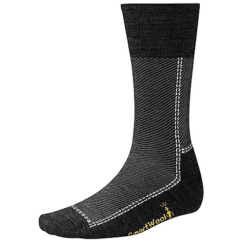 On Sale. Smartwool Relaxed Twill Sock DECENT FEATURES of the Smartwool Relaxed Twill Sock Supportive arch brace WOW Technology The SPECS Fabric: 73% Merino Wool, 26% Nylon, 1% Elastane Height: Crew Cushioning: Half Channel Cushion - $15.99
