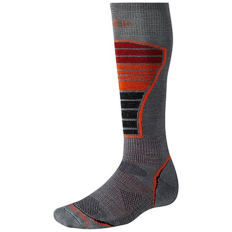 Ski Smartwool PhD Ski Light DECENT FEATURES of the Smartwool PhD Ski Light New 4 Degree Elite Fit System uses two elastics for greater stretch and recovery to keep the sock in place Patent pending RelioWool Technology in high impact areas provides the longer lasting protection to keep feet comfortable Strategically placed mesh ventilation zones provide ventilation for temperature and moisture management Flat knit durable toe seam for high burst strength 1 x 1 ribbed welt, 1 x 1 ribbed leg The SPECS Height: Over the calf Overall Height: 14in. Non Pattern: 70% Merino Wool, 28% Nylon, 2% Elastane Pattern: 67% Merino Wool, 31% Nylon, 2% Elastane - $23.95