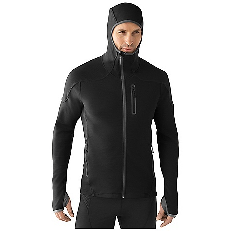 Free Shipping. Smartwool Men's PhD HyFi Full Zip Hoody DECENT FEATURES of the Smartwool Men's PhD HyFi Full Zip Hoody Semi-Form Fit HyFi Double Jersey knit Slightly offset center front zipper with semi-locking logo slider, full draft flap and chin guard Secure zip chest pocket and hand pockets with Durawelt finish Arcticulated hood with clean finish binding Arcticulated elbows with engineered thumbholes and clean finish binding at sleeve opening Heat transfer logo at left sleeve cuff The SPECS Fabric: 64% Merino Wool, 36% Nylon Garment Weight: 20.8 oz / 590 g Fabric Weight: 10.9 oz/yd2 / 370 gm/m2 - $209.95
