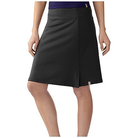 Free Shipping. Smartwool Women's Ferndale Skirt DECENT FEATURES of the Smartwool Women's Ferndale Skirt Semi-Form Fit-Mid Rise MerinoMax double jersey knit Asymmetrical wide waistband for a comfortable, flattering fit 4.7in. / 12 cm vent on wearer's left The SPECS Garment Weight: 7.76 oz / 220 g Fabric Weight: 8.3 oz/yd2 / 280 gm/m2 Front Length: M: 19.5in. / 49.5 cm 97% Merino Wool, 3% Elastane - $99.95