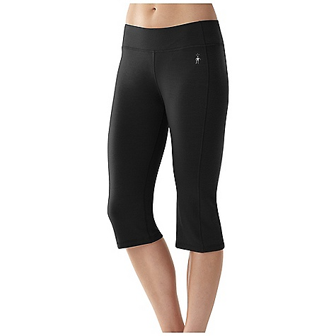 On Sale. Free Shipping. Smartwool Women's Cortina Capri DECENT FEATURES of the Smartwool Women's Cortina Capri Semi-Form Fit - Mid Rise MerinoMax Jersey; UPF 50+ Women's specific wide waistband and crotch gusset for comfort and flattering fit Secure concealed zip pocket at back right hip Reflective heat transfer logo at front left hip The SPECS Fabric: 95% Merino Wool, 5% Polyester Inseam: 18in. / 46 cm Garment Weight: 9.52 oz / 270 g Fabric Weight: 8.0 oz/yd2 / 270 gm/m2 - $61.99