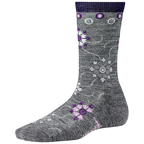 Smartwool Women's Snow Swirl DECENT FEATURES of the Smartwool Women's Snow Swirl WOW technology Supportive arch brace The SPECS Height: Crew 64% Merino Wool, 35% Nylon, 1% Elastane - $20.95