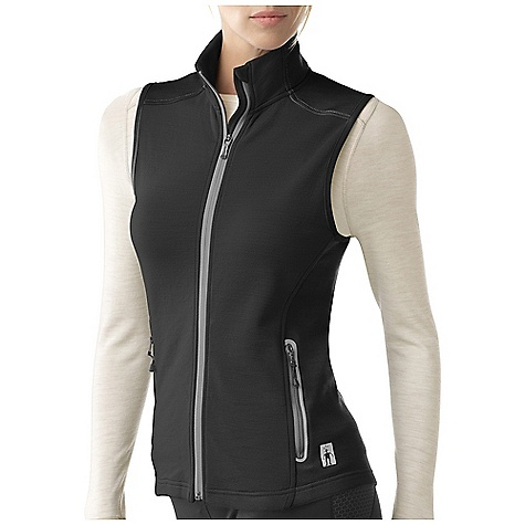 Free Shipping. Smartwool Women's PhD HyFi Vest DECENT FEATURES of the Smartwool Women's PhD HyFi Vest Semi-Form Fit HyFi Double Jersey knit Center front zipper with semi-locking logo slider, full draft flap and chin guard Secure zip hand pockets with Durawelt finish Clean finish binding at armholes Heat transfer logo at left hip The SPECS Fabric: 64% Merino Wool, 36% Nylon Garment Weight: 10.6 oz / 300 g Fabric Weight: 10.9 oz/yd2 / 370 gm/m2 - $159.95