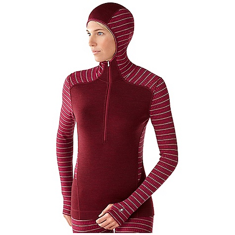 On Sale. Free Shipping. Smartwool Women's Midweight Pattern Hoody DECENT FEATURES of the Smartwool Women's Midweight Pattern Hoody Form Fit Interlock knit; UPF 50+ 13in. (32.5cm) center front zip with semi-locking logo slider Fitted hood with three panel construction for enhanced fit Shoulder panels eliminate top shoulder seams Flatlock seam construction eliminates chafing Engineered thumbholes for increased coverage Heat transfer logo at left sleeve cuff The SPECS Fabric: 100% Merino Wool Garment Weight: 10.23 oz / 290 g Fabric Weight: 7.4 oz/yd2 / 250 gm/m2 - $83.99