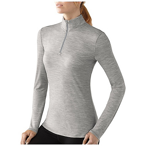 Free Shipping. Smartwool Women's Microweight Zip T DECENT FEATURES of the Smartwool Women's Microweight Zip T Form Fit Jersey knit UPF 30 8in. / 20.5 cm center front zipper with chin guard Flatlock seam construction eliminates chafing Contrast color interior stitching and bartacks Shaped bottom hem for body enhancing fit Signature SmartWool neck tape; Heat transfer logo at left sleeve cuff The SPECS Garment Weight: 6.17 oz / 175 g Fabric Weight: 4.5 oz/yd2 / 150 gm/m2 100% Merino Wool - $84.95