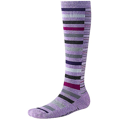 Smartwool Women's Sassy Split Stripe DECENT FEATURES of the Smartwool Women's Sassy Split Stripe SmartWool Fit System with arch and ankle support WOW technology The SPECS Height: Knee high 74% Merino Wool, 25% Nylon, 1% Elastane - $24.95