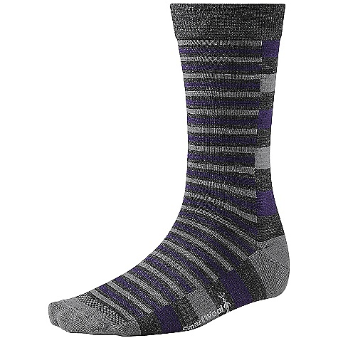 Smartwool Split Stripe Sock DECENT FEATURES of the Smartwool Split Stripe Sock Smartwool Fit System with arch and ankle support Strategic mesh zones for maximum ventilation WOW technology The SPECS Height: Crew 67% Merino Wool, 30% Nylon, 3% Elastane - $20.95