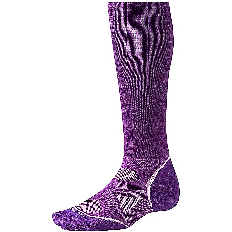 Fitness On Sale. Smartwool PhD Run Graduated Compression Light Sock FEATURES of the Smartwool PhD Run Graduated Compression Light Sock New 4 Degree elite fit system uses two elastics for greater stretch and recovery to keep the sock in place Patented ReliaWool technology in high impact areas provides the longer lasting protection to keep feet comfortable Strategically placed mesh ventilation zones provide ventilation for temperature and moisture management Low profile and durable, virtually seamless toe 14in. overall height - $21.99
