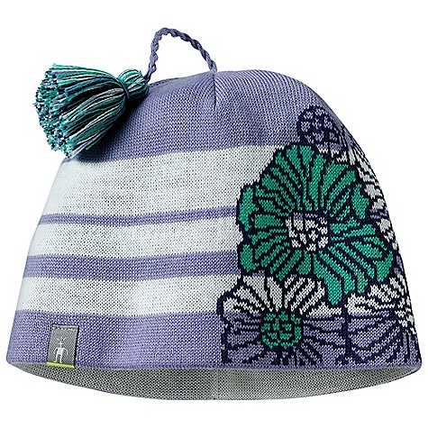 Entertainment Smartwool Kids' Warm Floral Stripe Hat DECENT FEATURES of the Smartwool Kids' Warm Floral Stripe Hat Jersey knit Single layer construction with interior headband liner The SPECS Shell: 50% Merino Wool/ 50% Acrylic Headband Liner: 100% Merino Wool - $29.95