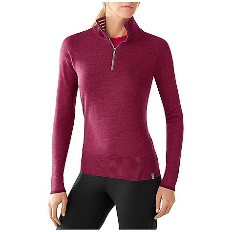 On Sale. Free Shipping. Smartwool Women's SportKnit Half Zip DECENT FEATURES of the Smartwool Women's SportKnit Half Zip Semi-Form Fit Jersey knit body and sleeves with ribbed collar and bottom opening; reverse jersey knit yoke Contrast color tipping at cuff with multicolor stripe inside cuff and collar 9in. (23cm) zipper with logo slider and chin guard Logo woven label stitched at left bottom opening The SPECS Fabric: 100% Merino Wool Garment Weight: 9.5 oz / 270 g - $96.99