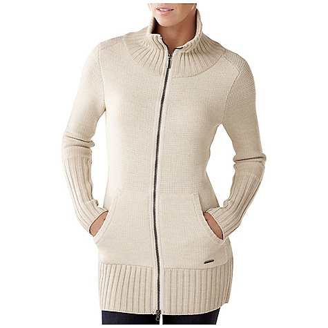 On Sale. Free Shipping. Smartwool Women's Hot Springs Sweater Jacket DECENT FEATURES of the Smartwool Women's Hot Springs Sweater Jacket Semi-Form Fit Jersey knit face with terry loop interior, longer rib bottom hem and sleeve cuffs Exposed two-way center front zipper with contrast bartacks Custom herringbone zipper tapes Engraved metal logo tab at left hip The SPECS Fabric: 100% Merino Wool Garment Weight: 19.6 oz / 555 g - $183.99