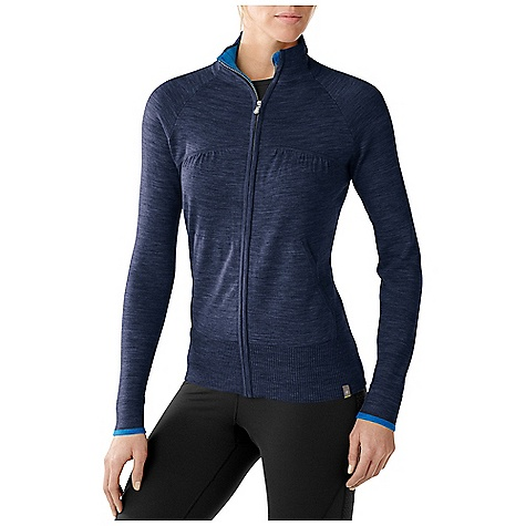 On Sale. Free Shipping. Smartwool Women's SportKnit Full Zip DECENT FEATURES of the Smartwool Women's SportKnit Full Zip Semi-Form Fit Jersey knit body and sleeves with ribbed bottom opening Ruching detail at collar for feminine, flattering fit Tubular trim at yoke and hand pockets Center front zipper with logo slider and chin guard Logo wovel label stitched at left bottom opening The SPECS Fabric: 100% Merino Wool Garment Weight: 11.3 oz / 320 g - $127.99