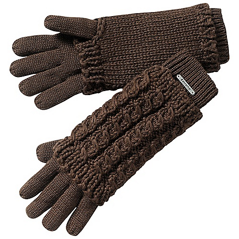 Smartwool Women's 2-In-1 Cable Glove DECENT FEATURES of the Smartwool Women's 2-In-1 Cable Glove Lightweight glove with removable chunky exterior wrist covering The SPECS Fabric: 50% Merino Wool, 50% Acrylic - $39.95
