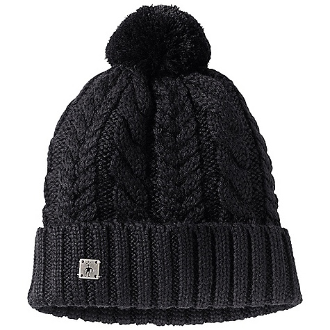 Ski Smartwool Ski Town Hat DECENT FEATURES of the Smartwool Ski Town Hat Heavy gauge single layer cable knit Exterior rib roll cuff Pom detail 100% Merino Wool - $39.95