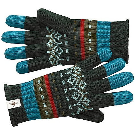 Smartwool Mountain Floral Glove DECENT FEATURES of the Smartwool Mountain Floral Glove Form fit natural rise Jacquard knit UPF 50+ Wide self fabric covered elastic waistbelt for comfort and a flattering fit Flatlock seam construction - $35.00