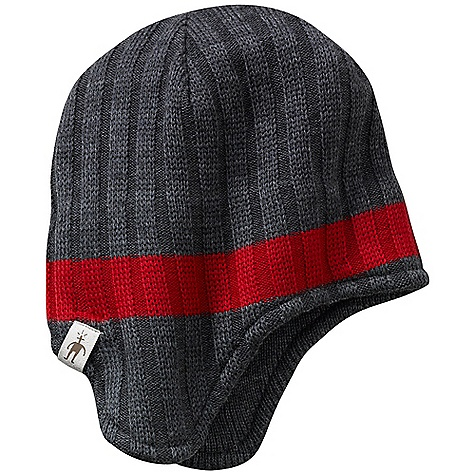 Entertainment On Sale. Smartwool Adventurer Hat DECENT FEATURES of the Smartwool Adventurer Hat Single layer construction with interior headband liner Earflap style hat with tubular finishing at bottom edge Marled yarns with solid stripe detail 100% Merino Wool - $35.99