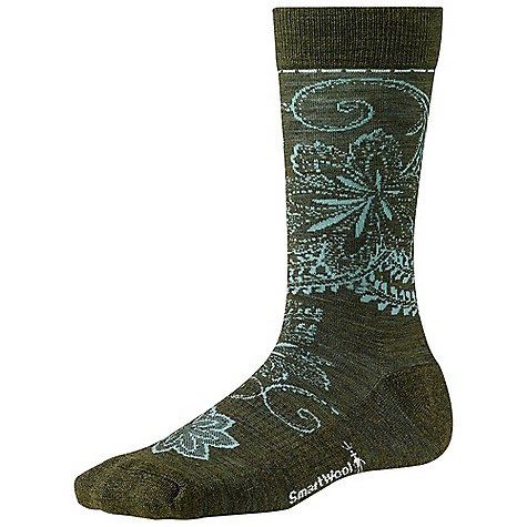 On Sale. Smartwool Women's Floral Scroll DECENT FEATURES of the Smartwool Women's Floral Scroll Supportive arch brace WOW technology Strategic mesh zones for maximum ventilation The SPECS Height: Crew 67% Merino Wool, 31% Nylon, 2% Elastane - $15.99