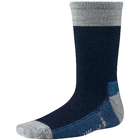 Camp and Hike Features of the Smartwool Kids' Hiker Street Sock 80% Merino Wool, 18% Nylon, 2% Elastane - $13.95