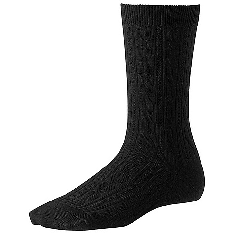Smartwool Women's Cable Sock DECENT FEATURES of the Smartwool Women's Cable Sock WOW Technology The SPECS Height: Crew Cushioning: Micro Cushion 80% Merino Wool, 19% Nylon, 1% Elastane - $16.95