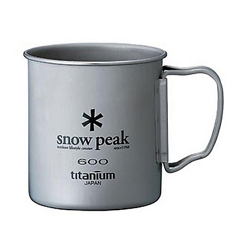 Snow Peak Titanium Single Wall Cup 600 The SPECS Weight: 2.8 oz Capacity: 21.2 fl oz Titanium - $34.95