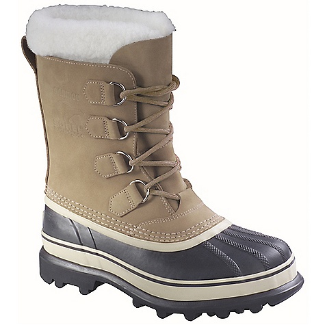 Free Shipping. Sorel Women's Caribou Boot FEATURES of the Sorel Women's Caribou Boot Upper: Waterproof nubuck leather upper. Seam sealed waterproof construction Insulation: Removable 9 mm washable recycled felt inner boot with Sherpa Pile snow cuff Midsole: 2.5 mm bonded felt frost plug Outsole: Handcrafted waterproof vulcanized rubber shell with Sorel aero-trac non loading outsole - $149.95