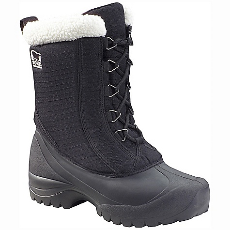 Free Shipping. Sorel Women's Cumberland Boot FEATURES of the Sorel Women's Cumberland Boot Upper: Durable water and wind resistant PU coated synthetic textile upper. Gusseted tongue keeps out debris and snow. Sherpa Pile snow cuff Insulation: 200g insulation Footbed: Removable EVA footbed Outsole: Injection molded waterproof thermal rubber shell with multi-directional lug outsole for enhanced traction - $104.95