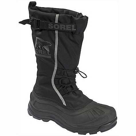 Entertainment On Sale. Free Shipping. Sorel Men's Alpha Pac Boot (Fall 2010) DECENT FEATURES of the Sorel Men's Alpha Pac Boot Seam-sealed waterproof construction Waterproof PU backed synthetic textile Built-in gaiter with barrel lock closure system Shatter-resistant YKK Shokonloc buckle closure Reflective safety graphics Removable 9mm Sorel Recycled Felt liner 25mm bonded felt frost plug 9mm felt foot bed Molded EVA midsole for enhanced comfort, weight reduction and thermal protection Polar Lite shell for enhanced flexibility in extreme temperatures Traction enhancing multi-directional rubber lug outsole The SPECS Weight: 42 oz / 1191 g Shaft Height: 13in. / 33 cm - $89.99