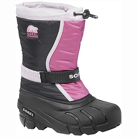 On Sale. Free Shipping. Sorel Youth Flurry TP DECENT FEATURES of the Sorel Youth Flurry TP Durable water and wind resistant PU coated synthetic textile upper Built-in gaiter with barrel lock closure system Adjustable Gore and velcro instep strap Removable 6mm Thermo Plus washable, recycled felt Inner Boot 25mm bonded felt frost plug Injection molded waterproof thermal rubber shell Traction enhancing multi-directional lug outsole The SPECS Weight: 17 oz / 482 g Shaft Height: 9.5in. / 24 cm - $40.99