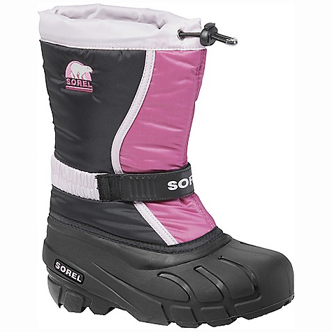 On Sale. Free Shipping. Sorel Children's Flurry TP DECENT FEATURES of the Sorel Children's Flurry TP Durable water and wind resistant PU coated synthetic textile upper Built-in gaiter with barrel lock closure system Adjustable Gore and velcro instep strap Removable 6mm Thermo Plus washable, recycled felt Inner Boot 25mm bonded felt frost plug Injection molded waterproof thermal rubber shell Traction enhancing multi-directional lug outsole The SPECS Weight: 17 oz / 482 g Shaft Height: 9.5in. / 24 cm - $39.99