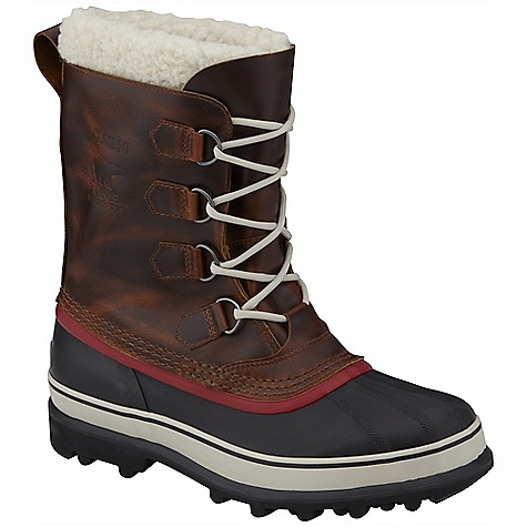 On Sale. Free Shipping. Sorel Men's Caribou Wool Boot DECENT FEATURES of the Sorel Men's Caribou Wool Boot Seam-sealed waterproof construction with full-grain leather upper Removable 9mm felted wool Inner Boot, Knit wool snow cuff 25mm bonded felt frost plug Handcrafted waterproof vulcanized rubber shell with Sorel AeroTrac non-loading outsole The SPECS Weight: 39 oz / 1106 g Shaft Height: 10in. / 25.4 cm - $118.99