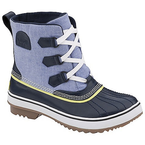 On Sale. Free Shipping. Sorel Women's Tivoli Rain Boot DECENT FEATURES of the Sorel Women's Tivoli Rain Boot Rubber coated canvas upper with waterproof membrane Waterproof patent leather shell Removable EVA foot bed Molded rubber outsole inspired from the classic 1964 Pac boot The SPECS Height: 7.5in. Weight: 17.6 oz - $90.99