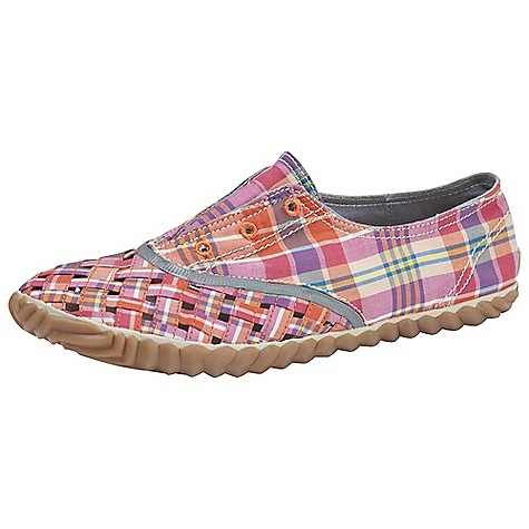 Skateboard On Sale. Free Shipping. Sorel Women's Picnic Weave Canvas Shoe DECENT FEATURES of the Sorel Women's Picnic Weave Canvas Soft buttery leather upper with woven vamp Leather footbed Vulcanized rubber outsole Can be worn with or without laces The SPECS Weight: 8.3 oz / 235.3 g - $19.99