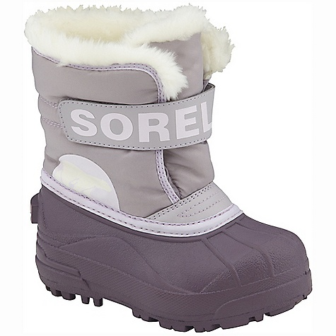 On Sale. Free Shipping. Sorel Children's Snow Commander DECENT FEATURES of the Sorel Children's Snow Commander PU backed synthetic textile upper 200 grams of insulation Injection molded waterproof thermal rubber shell Traction enhancing multi-directional lug outsole The SPECS Weight: 15.2 oz / 431 g Shaft Height: 7in. / 18 cm - $37.99