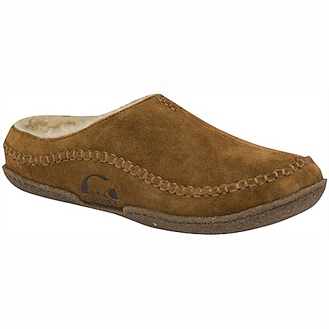 Free Shipping. Sorel Men's Falcon Ridge Slipper FEATURES of the Sorel Men's Falcon Ridge Slipper Upper: Suede leather upper. Wool/acrylic blend lining Footbed: Removable molded EVA footbed covered with wool/acrylic blend Outsole: Rubber outsole - $69.95