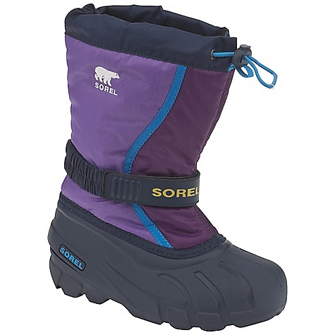 On Sale. Free Shipping. Sorel Toddler Flurry TP Boot DECENT FEATURES of the Sorel Toddler Flurry TP Boot Durable water and wind resistant PU coated synthetic textile upper Built-in gaiter with barrel lock closure system Adjustable Gore and velcro instep strap Removable 6mm Thermo Plus washable, recycled felt Inner Boot 25mm bonded felt frost plug Injection molded waterproof thermal rubber shell Traction enhancing multi-directional lug outsole The SPECS Weight: 17 oz / 482 g Shaft Height: 9.5in. / 24 cm - $33.99