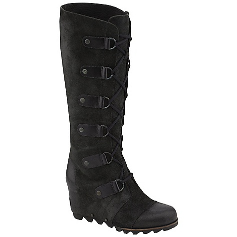 On Sale. Free Shipping. Sorel Women's Joan of Arctic Wedge LTR Boot DECENT FEATURES of the Sorel Women's Joan Of Arctic Leather Full-grain leather upper Leather lined Molded rubber outsole The SPECS Weight: 21 oz / 600 g Shaft Height: 15in. / 38 cm - $174.99