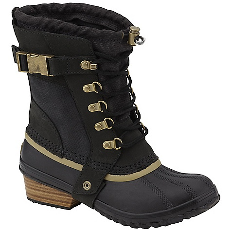 Free Shipping. Sorel Women's Conquest Carly Short DECENT FEATURES of the Sorel Women's Conquest Carly Short Full grain leather and nylon upper Full length gusset construction with bungee and lace closure for customized fit Insulated waterproof rubber shell with stacked leather heel The SPECS Weight: 21 oz / 545 g Shaft Height: 6in. / 15.24 cm - $184.95