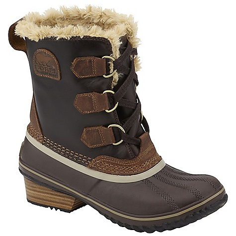 On Sale. Free Shipping. Sorel Women's Slimpack Pac Boot DECENT FEATURES of the Sorel Women's Slimpack Pac Boot Waterproof full-grain leather upper with faux fur lining Waterproof rubber shell with 100g insulation Stacked leather heel The SPECS Weight: 14 oz / 396 g Shaft Height: 7in. / 17.8 cm - $109.99