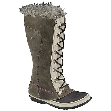On Sale. Free Shipping. Sorel Women's Cate The Great Deco DECENT FEATURES of the Sorel Women's Cate The Great Deco Seam-sealed waterproof construction Waterproof full-grain and suede upper Removable 6mm recycled felt Inner Boot Faux fur snow cuff 25mm bonded felt frost plug Handcrafted waterproof vulcanized rubber shell with herringbone outsole The SPECS Weight: 28.5 oz / 800 g Shaft Height: 14in. / 35 cm - $129.99