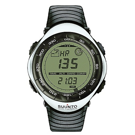 Fitness Free Shipping. Suunto Vector Heart Rate Monitor Watch FEATURES of the Suunto Vector Heart Rate Monitor Watch Altimeter, barometer, compass Heart rate Cumulative altitude gain Altitude log Vertical speed Weather trend indicator Temperature Multiple watch, date and time functions User-replaceable battery Composite case, elastomer strap rotating plastic bezel - $299.00
