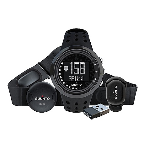 Fitness Free Shipping. Suunto M5 Men's Running Pack DECENT FEATURES of the Suunto M5 Men's Running Pack Fitness test 3 personal targets to choose from - improving fitness, weight management or free training Daily exercise instructions with ideal duration and intensity Automatically adapting exercise program for the next 7 days Real-time intensity guidance during workout Recovery time recommendation after exercise Motivational feedback messages Suunto Dual Comfort Belt, compatible with most gym cardio equipment and Suunto Fitness Solution Upload exercise data to Movescount.com with Suunto Movestick Download any training program from Movescount.com with Suunto Movestick Track speed and distance while running (with Suunto Foot POD Mini) Easy to use 9 languages: English, French, Spanish, Italian, German, Dutch, Portuguese, Swedish and Finnish - $249.00