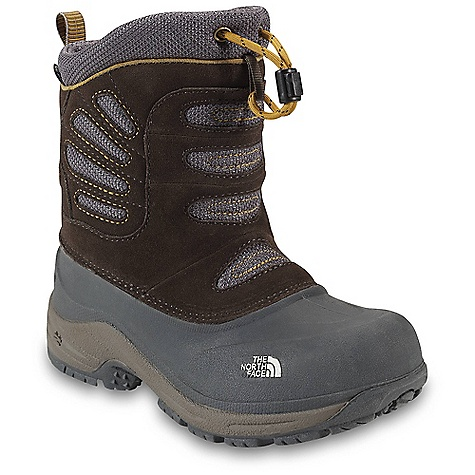 Entertainment On Sale. Free Shipping. The North Face Boys Snow Plough Pull-On Boot DECENT FEATURES of The North Face Boys' Snow Plough Pull-On Boot Upper: Waterproof construction for ultimate weather protection HydroSeal waterproof membrane 1.4-1.6 mm waterproof pig suede Rugged, abrasion-resistant textile with DWR finish 200 g Heat seeker insulation Fleece lining Die-cut EVA foot bed with AgION Draw cord lace with barrel lock Bottom: TPR shell bottom with steel shank insert AgION dual-density X 2 footbed to fight odor Double-adhesive latex seam sealed construction Simplicity and extreme warmth in a boot featuring a waterproof HydroSeal membrane, fleece lining, and TNF Winter Grip technology Imported The SPECS Last: TNF-008 Comfort Range: -25deg F / -32deg C Approx Weight: 1/2 pair: 15 oz / 417 g, pair: 1 lb 13 oz / 834 g This product can only be shipped within the United States. Please don't hate us. - $41.99