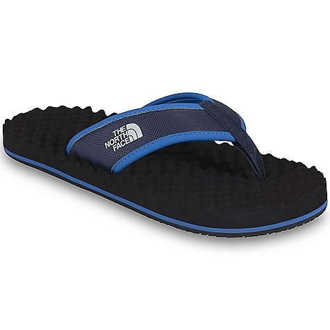 Camp and Hike The North Face Men's Base Camp Flip-Flop Sandal is a lightweight flip-flop for kickin' it around camp, heading to the beach and resting your toes after a long day Climbing or hiking. An EVA egg crate Footbed cushions your feet from the bottom up, giving them the comfort and rest they need after hard days of adventure, and even right when you wake up and roll out of bed. The straps feature a jersey lining so they won't rub the wrong way as you tromp around and a durable rubber Outsole keeps them going all summer long. Features of The North Face Men's Base Camp Flip-Flop Sandal Upper: PVC-free, PU-coated synthetic strap with soft PU binding and jersey lining Bottom: Extra-cushy, egg-crate inspired EVA Footbed with anatomical arch support Durable rubber Outsole - $29.95