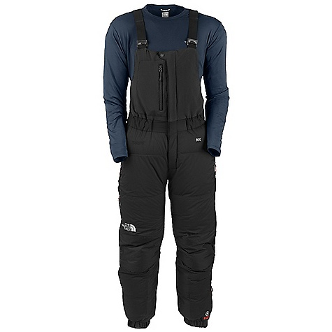 Free Shipping. The North Face Men's Himalayan Pant DECENT FEATURES of The North Face Men's Himalayan Pant Remote expedition 800 fill Hungarian goose down upper; 700 fill in lower body for compression resistance Welded baffle construction eliminates cold spots and weak points that accompany needle holes Stretch upper bib with low-profile adjustable suspenders and zippered Napoleon pocket Lower leg is insulated with Climashield synthetic insulation for warmth when compressed by over-boot gaiter Large drop-seat zip with draft tube construction keeps the cold out Abundant reflectivity for safety on alpine starts and in vicious weather The SPECS Average Weight: 32.8 oz / 930 g Fit: Expedition Inseam: regular Body: 30D 56 g/m2 (1.65 oz/yd2) Pertex Endurance-100% nylon ripstop Abrasion: 40D 100 g/m2 (2.95 oz/yd2) HyVent Alpha 2L- 100% nylon faille weave This product can only be shipped within the United States. Please don't hate us. - $498.95